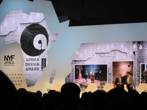 Attending the Africa Design Award ceremony at the conference